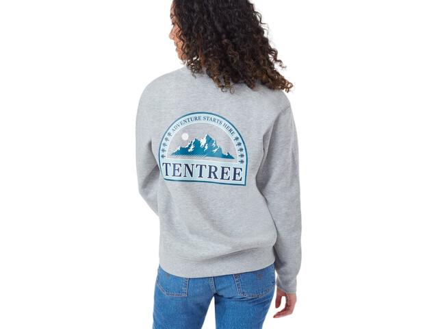 tentree Adventure Boyfriend T-shirt Col ras-du-cou manches longues Femme, hi rise grey heather
